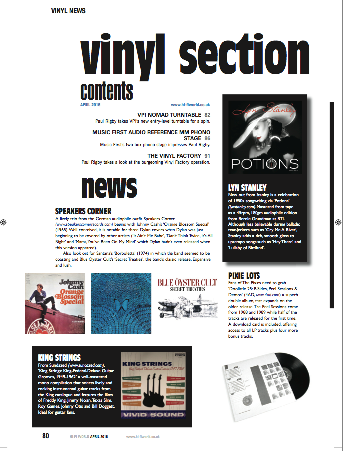 HiFi World April 2015 Review